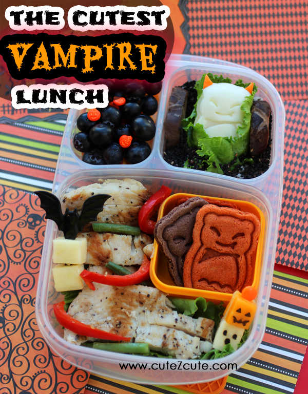Cute Halloween Vampire Bento School Lunch in Easylunchboxes by CuteZcute