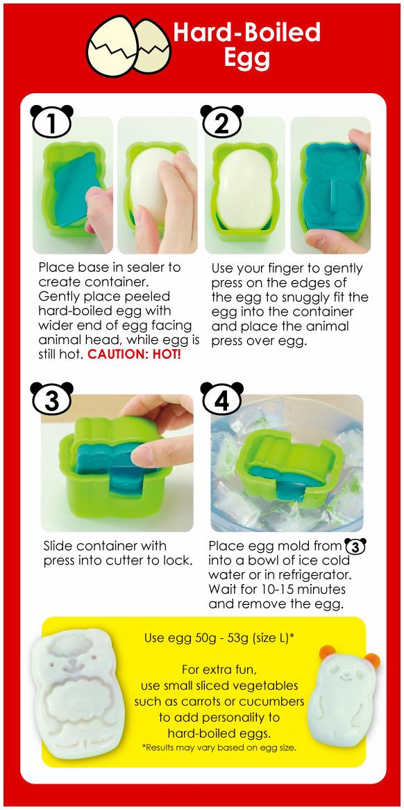 CuteZcute Animal Palz Bento Hard Boiled Egg Mold Shaper