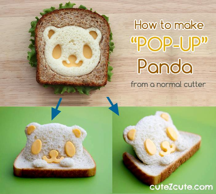 CuteZcute How to make Pop Up Sandwich