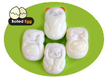 Egg mold - Panda, Bat, Monkey, Sheep