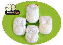 Egg mold - Panda, Bat, Monkey, Sheep