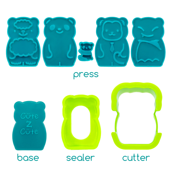 cutezcute animal palz mini sandwich press and egg mold