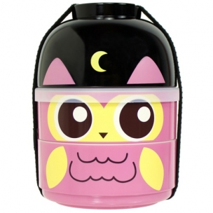 2-Tier Bento Lunch Box - Baby Bento Buddy - Baby Night Owl Hoot