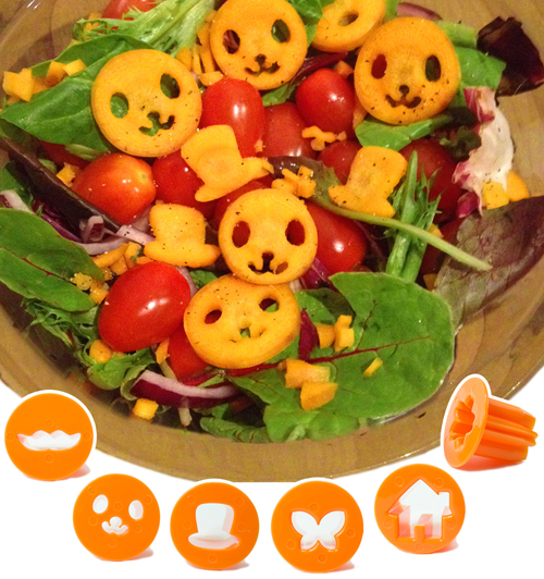 Salad, fun using CuteZCute Vegetable Cutter