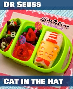 Dr Seuss Cat in the Hat Bento Lunch