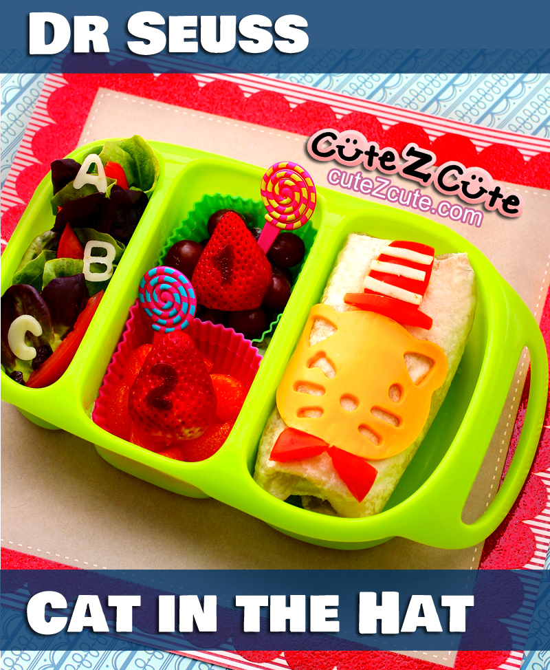 Dr Seuss Cat in the Hat Bento Lunch in #Goodbyn