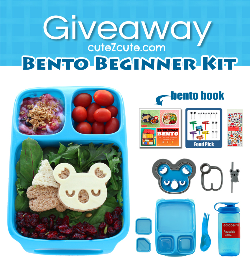 Goodbyn Hero Divided Lunch Box and Everyday Bento Cookbook, CuteZcute Cutter Giveaway